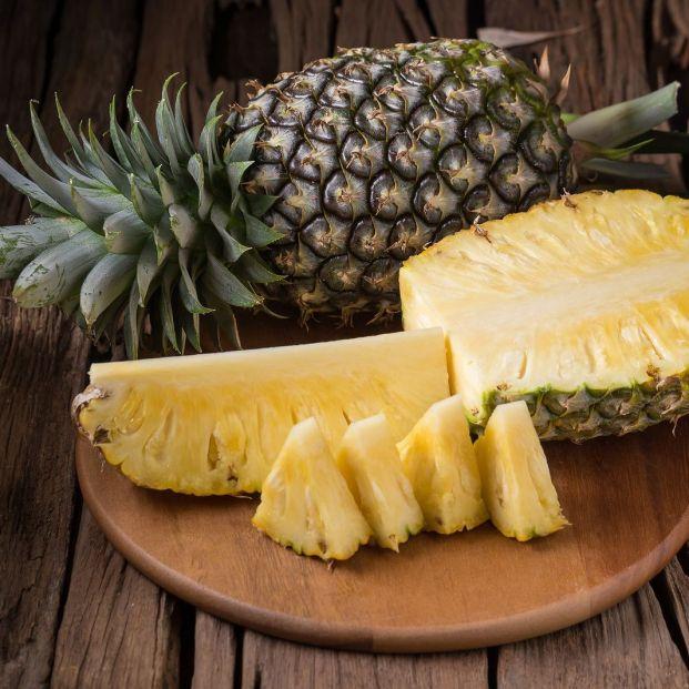La bromelina de la piña hace que esta fruta facilite la digestión.