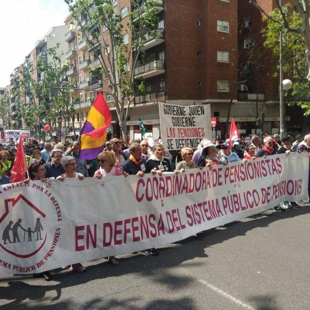 Los pensionistas vuelven a manifestarse este sábado en toda España