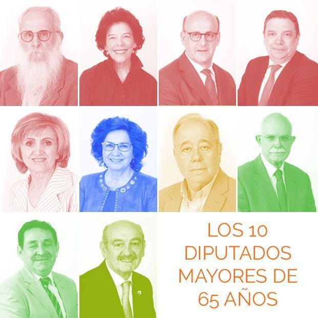 Diputados mayores de 65 años