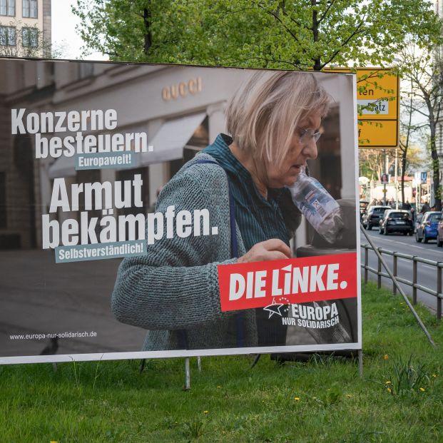 Cartel electoral del Partido Izquierda Europea en Berlín.