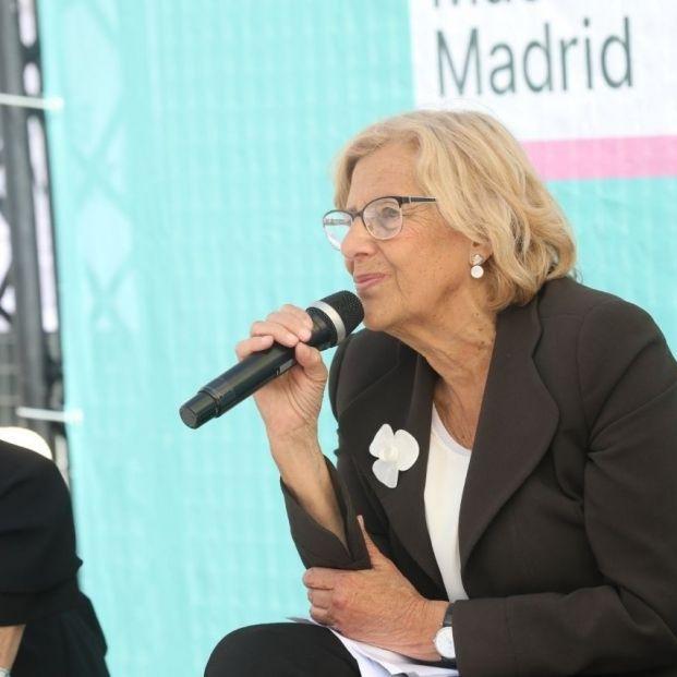 La candidata de Más Madrid al Ayuntamiento de Madrid Manuela Carmena.