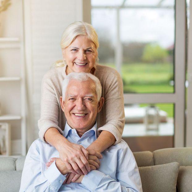 bigstock Portrait of happy senior coupl 293083687