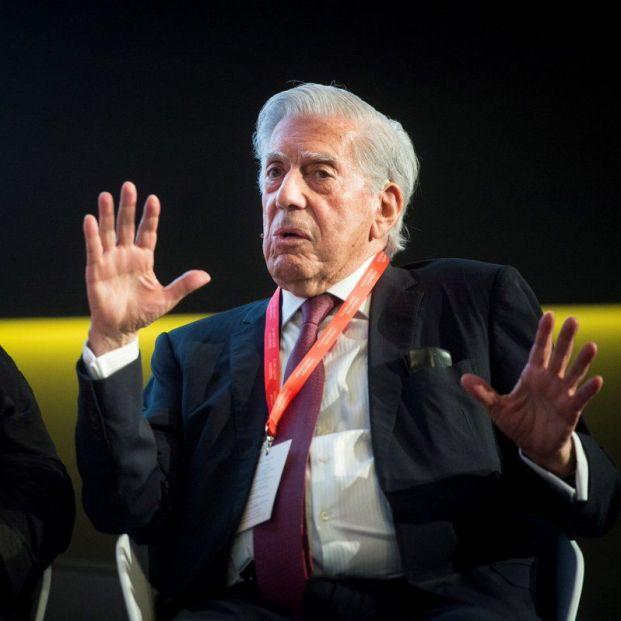 Mario Vargas Llosa durante su intervención en el Nobel Prize Dialogue